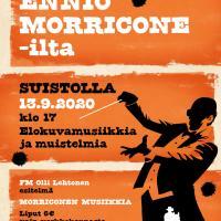 Morricone-ilta Suistoklubilla su 13.9.
