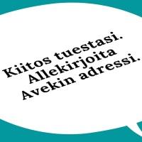 Audiovisuaalisen kulttuurin puolesta - allekirjoita AVEKin tukiadressi